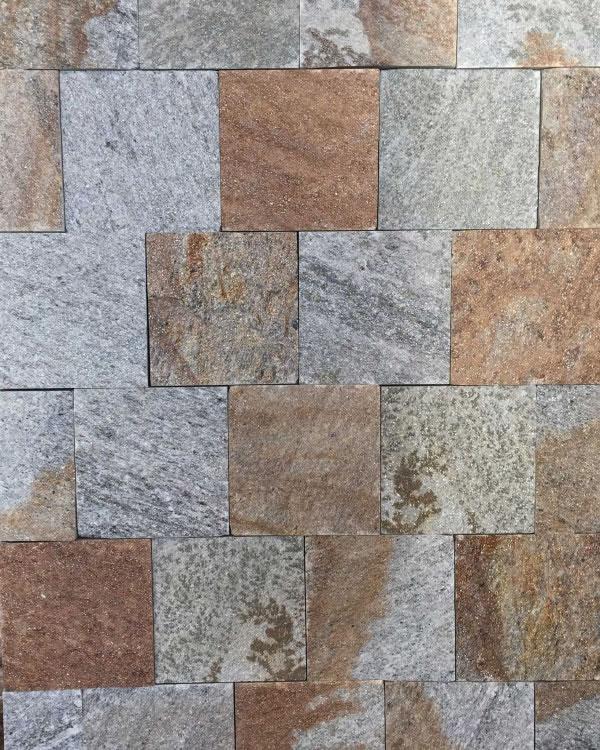pavés 15x15 gneiss du caroux clivés