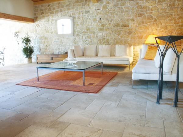 Burgundy stone flooring