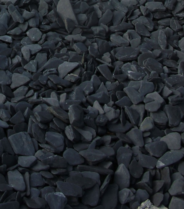 Pétales d'ardoise noires