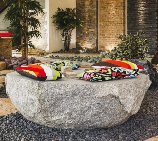 Pierres décoratives 1/2 boule de Granit