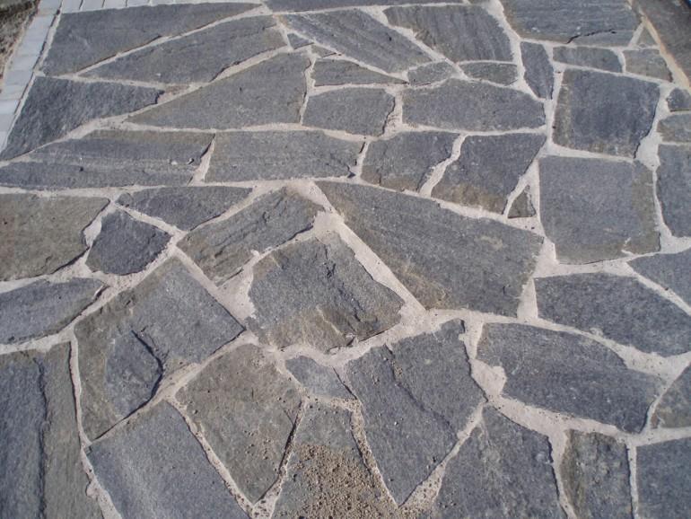 Dallage opus incertum quartzite Blackstone