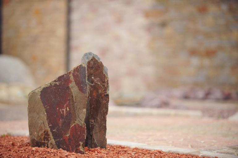 Mini monolithes schiste rouge