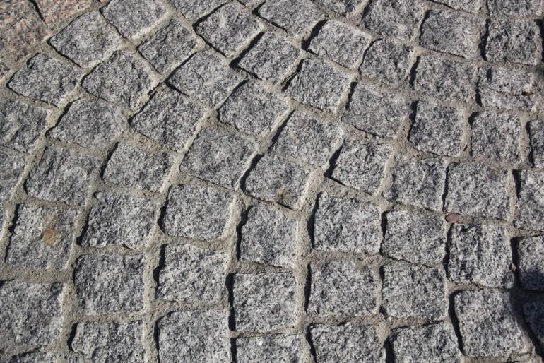 Pavés éclatés granit gris