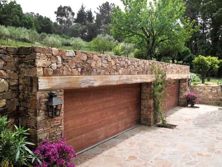 Mur et sol en Gneiss du Caroux